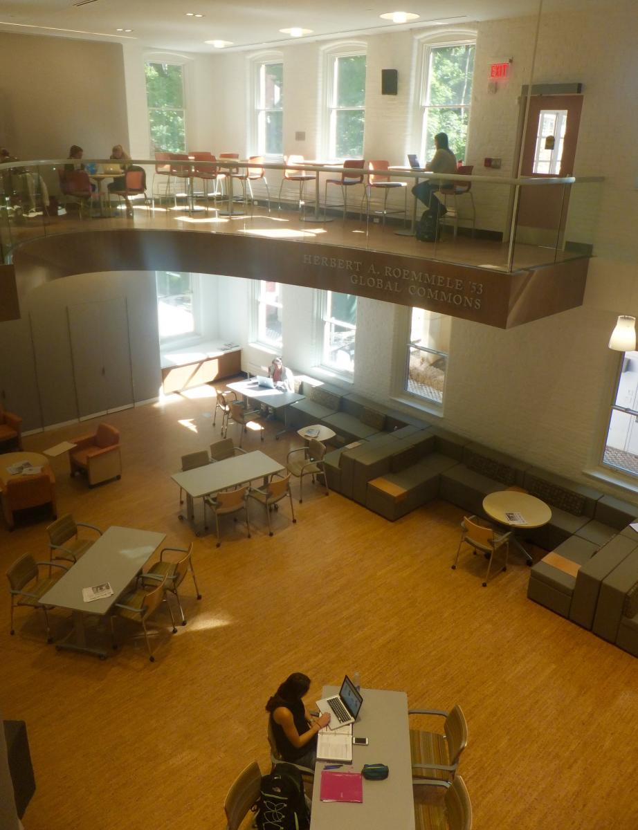 The Roemmele Global Commons as seen from the 2nd floor