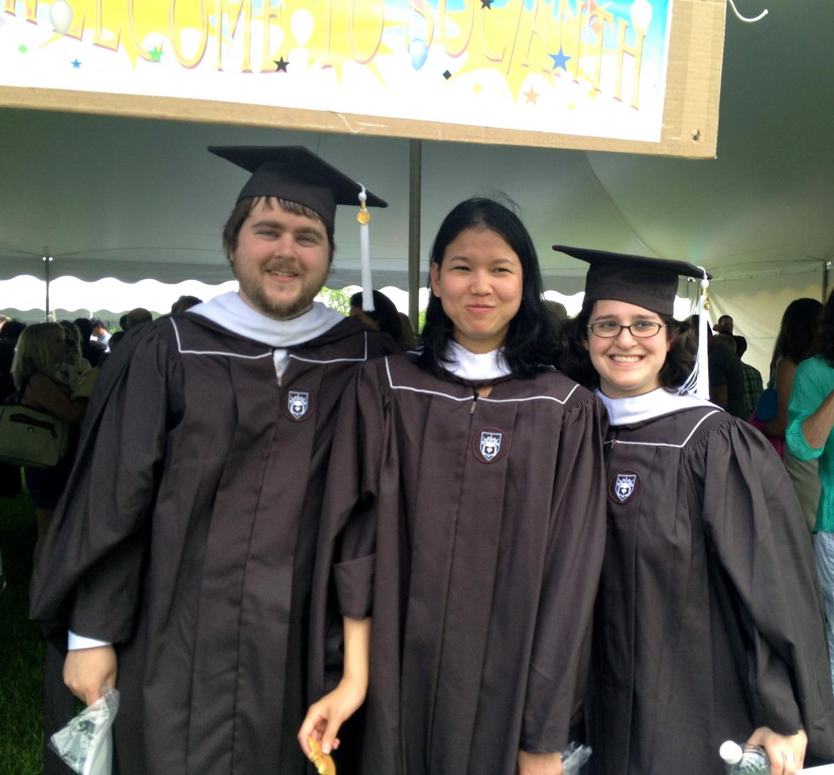 Lehigh University Sociology and Anthropology - MA recipients Joshua Lynn, Krittiya Kantachote,  and Jordann Markowitz