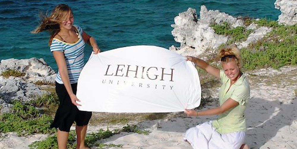Lehigh University Sociology and Anthropology - Christina Stegura & Sarah Smith of Lehigh's research team in Turks & Caicos Islands (photo: Prof. J. Gatewood)