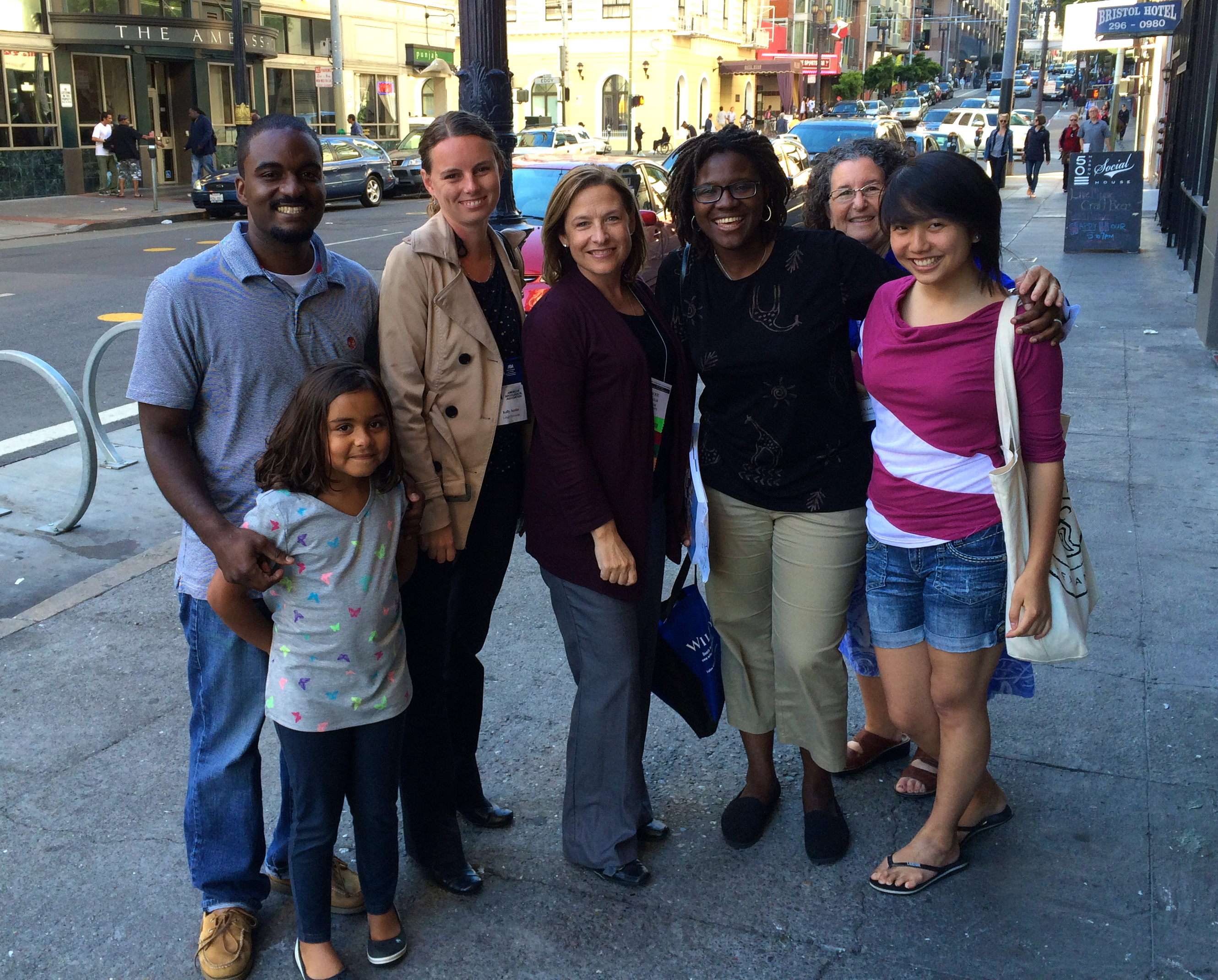 Lehigh Sociology faculty, alums, and students in San Francisco, 2014