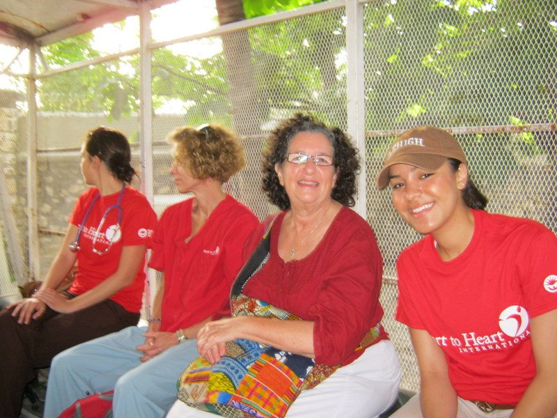 Lehigh University Sociology and Anthropology -Prof. Lasker & Ana Arteaga '12 on the road to a clinic in Haiti